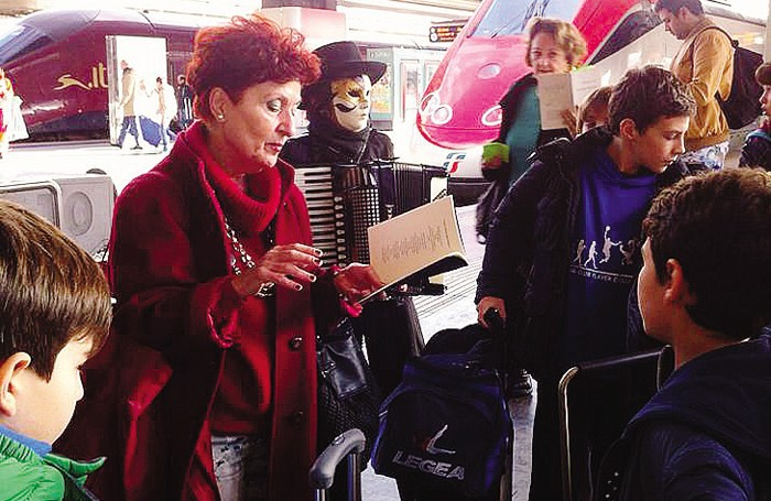Poesie e musica alla stazione di Roma Termini