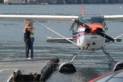 Commozione  all'hangar Aeroclub Como