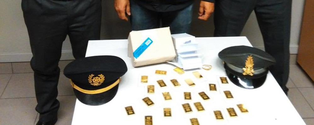 Fermato con i lingotti d'oro  Medico finisce nei guai