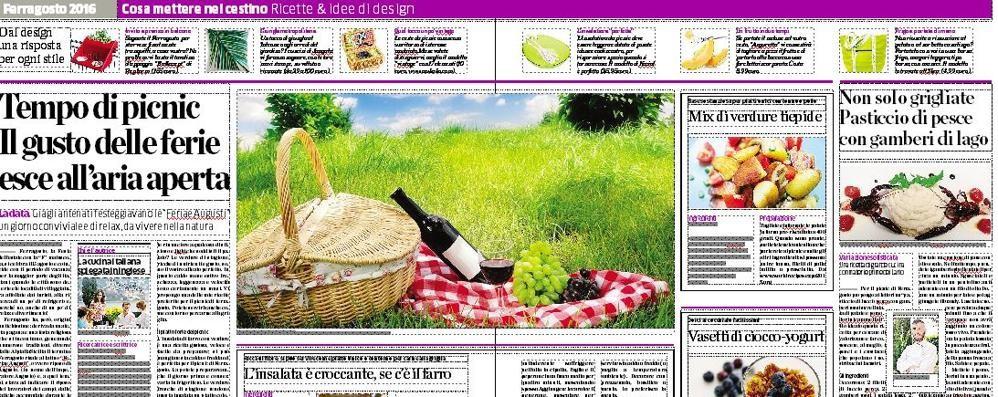 Il picnic fa tendenza  nella gita di Ferragosto