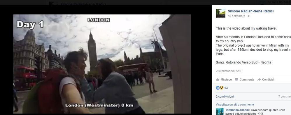 Londra-Parigi a piedi  Simone  e i suoi   385 km