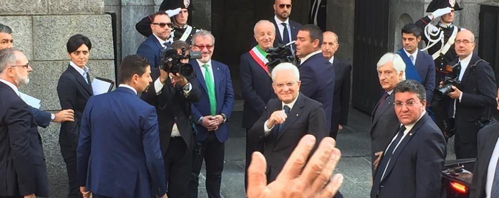 Mattarella a Sondrio ha incontrato i sindaci