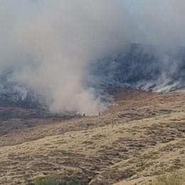 Ancora incendi sui monti  Nonostante gli arresti