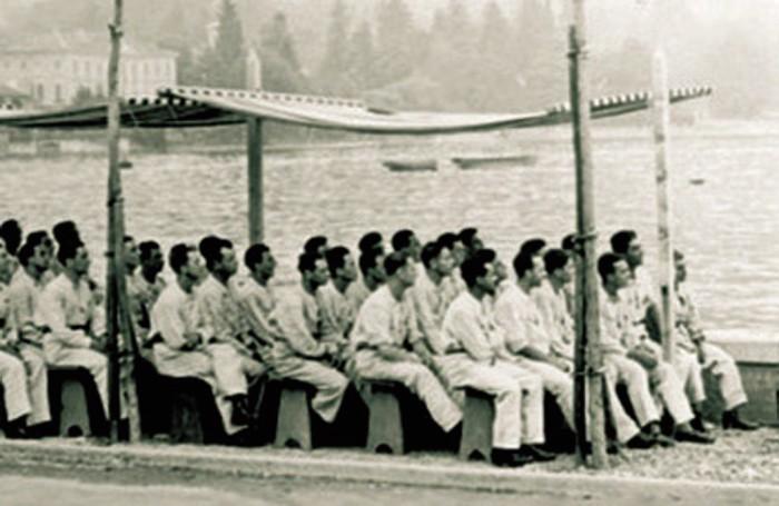 1935 - scuola di volo, lezione all'aperto