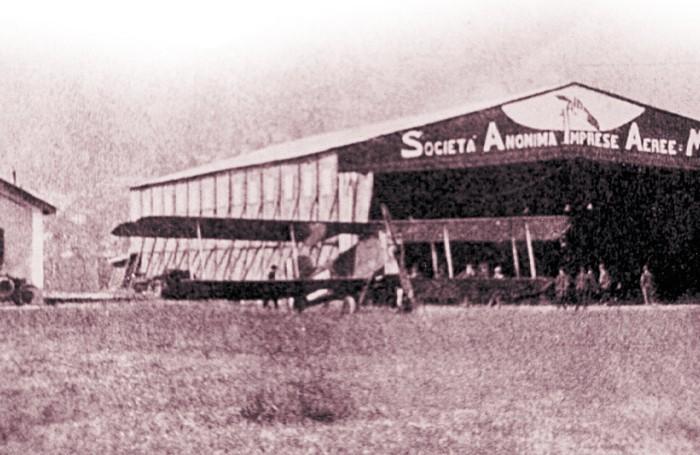 1920-hangar di Incino d'Erba