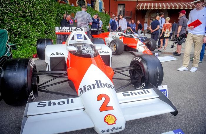 Cernobbio concorso d'leganza di Villa D'Este, Formula Uno. La McLaren di Prost