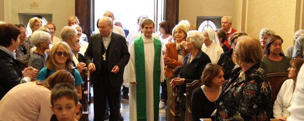 Lenno, messa del vescovo  nella sua Masnate