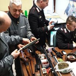 Carabine non regolari in casa  Due arresti a Cremia