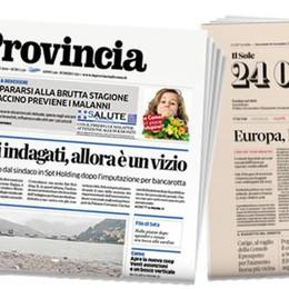 Rapporto Lombardia  con La Provincia   e Il Sole 24 Ore