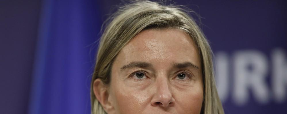 Mogherini, con Lega araba obiettivo soluzione a due Stati