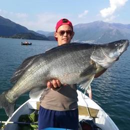 Filippo, 17 anni, pesca   un lucioperca di 15 chili