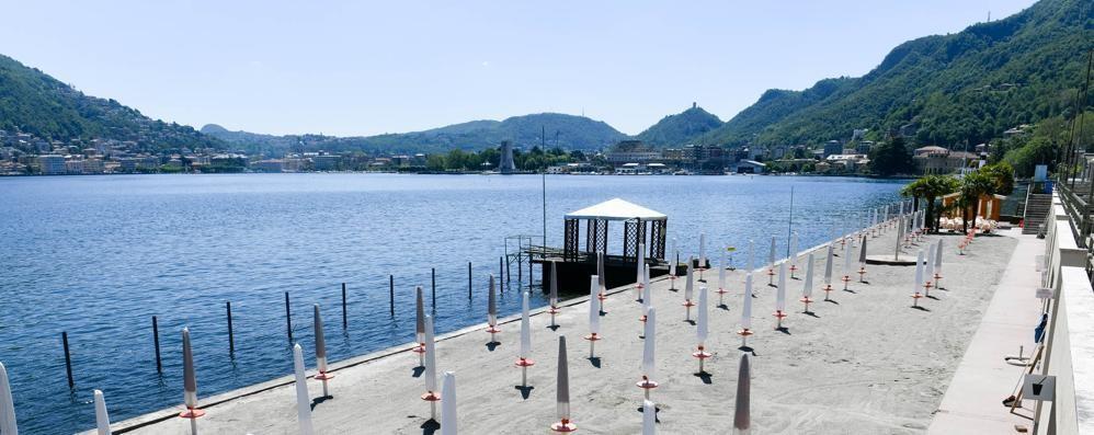 Villa Olmo: riapre il lido dopo 2 anni «Spiaggia attrezzata, siamo pronti»