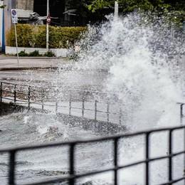 Vento a 100 all'ora, danni in città Sospesa la navigazione (video)  Muggiò, auto colpita da albero