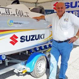 """Il """"re"""" Tullio Abbate  «Sul lago troppo caos,  ora in barca ho paura»"""