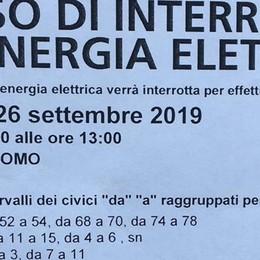 Oggi via la corrente a Como Borghi  «Seconda volta in pochi giorni, basta»