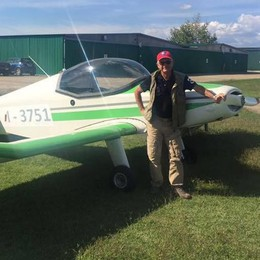 Il pilota alzatese dell'ultraleggero  «Io, in avaria a mille metri di quota»