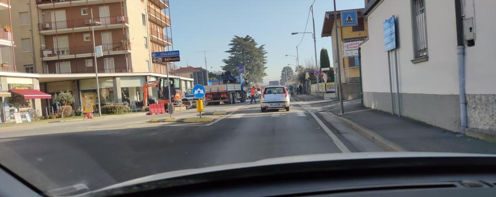 Il cantiere apre all'ora di punta  A Masano il traffico va in tilt