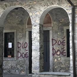 Canzo, raid dei vandali a Pasquetta  Scritte su edicole votive e chiese