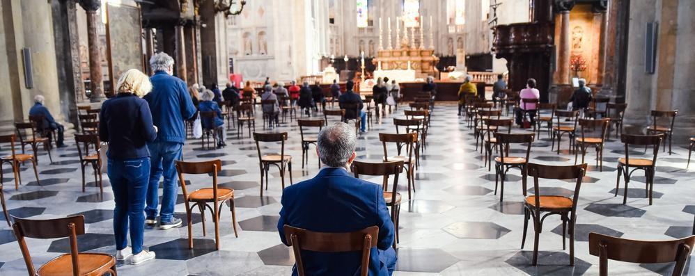 Le prime messe in Duomo  Distanze e mascherina