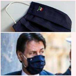 Conte indossa Como  Dopo la cravatta,  ecco la mascherina