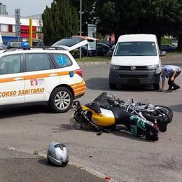 Mariano, scontro in via S.Agata  Ferito un motociclista