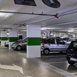 San Fermo, crollati  gli incassi al parcheggio  dell'ospedale
