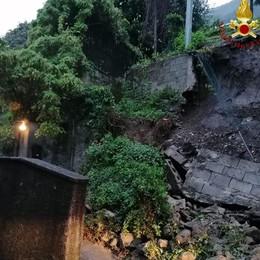 Como, notte di pioggia forte e temporali  Crollato un muro in via Santa Marta