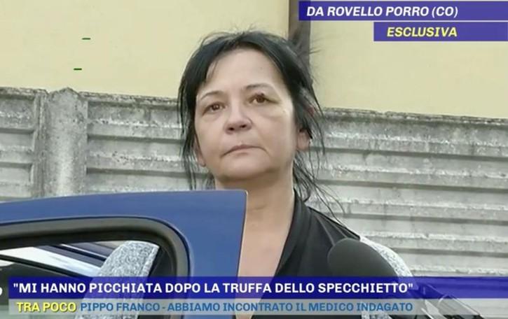 Truffa dello specchietto  Picchiata donna di Rovello