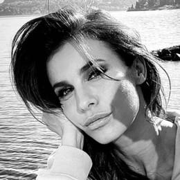 Elisabetta Canalis a Menaggio  Location da sogno per una copertina