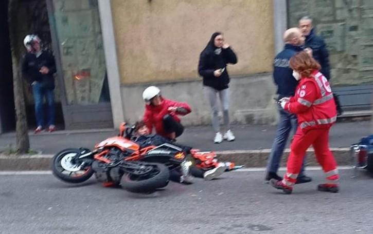 Scontro tra moto in via Dante Tre ragazzi in ospedale