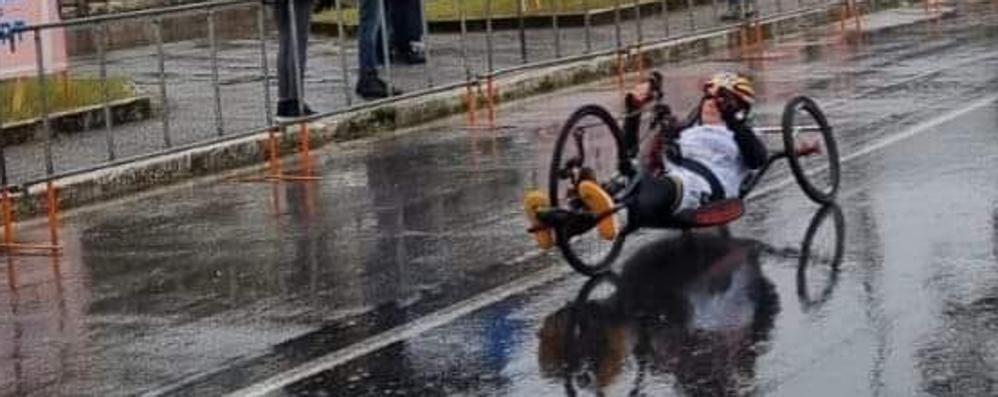 Amadeo campionessa italiana  nelle gare di handbike