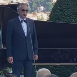 Bis di Bocelli alle nozze Vip  Stasera recital a Villa Erba