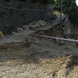 Fino, altri guai al sottopasso   Un cedimento nel cantiere