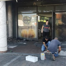 Fino: attentato incendiario  nella notte contro il bar