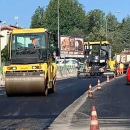 Ruspe sulla Como-Bergamo  Disagi, ma l'asfalto rifatto