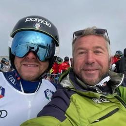 Molteni allo Stelvio  Selfie con l'ex coach