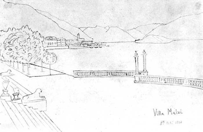 William Fox Talbot, Villa Melzi 5 ottobre 1833