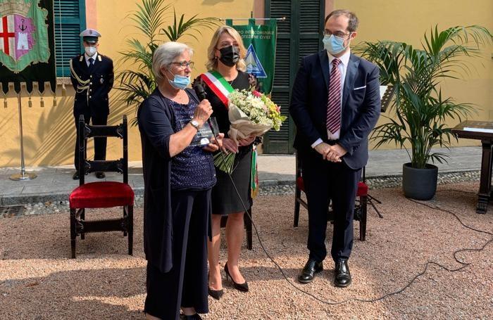 L'intervento di Bettina Castanò, moglie di Giuseppe Incarnato, il  volontario della Protezione Civile morto a causa del Covid