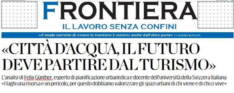 La risorsa laghi tra Como e Ticino  Con La Provincia c'è Frontiera