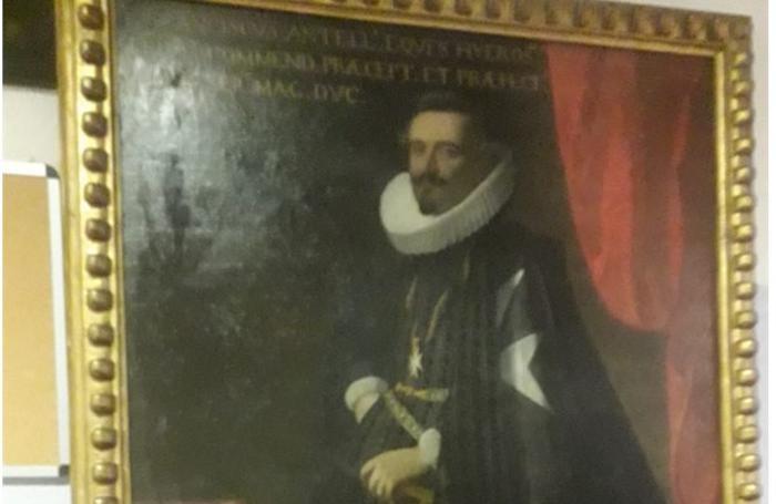 Un particolare del quadro risalente al 1600