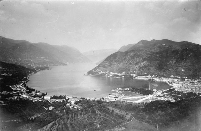 1885 circa - veduta di Como e Brunate prima della costruzione della funicolare